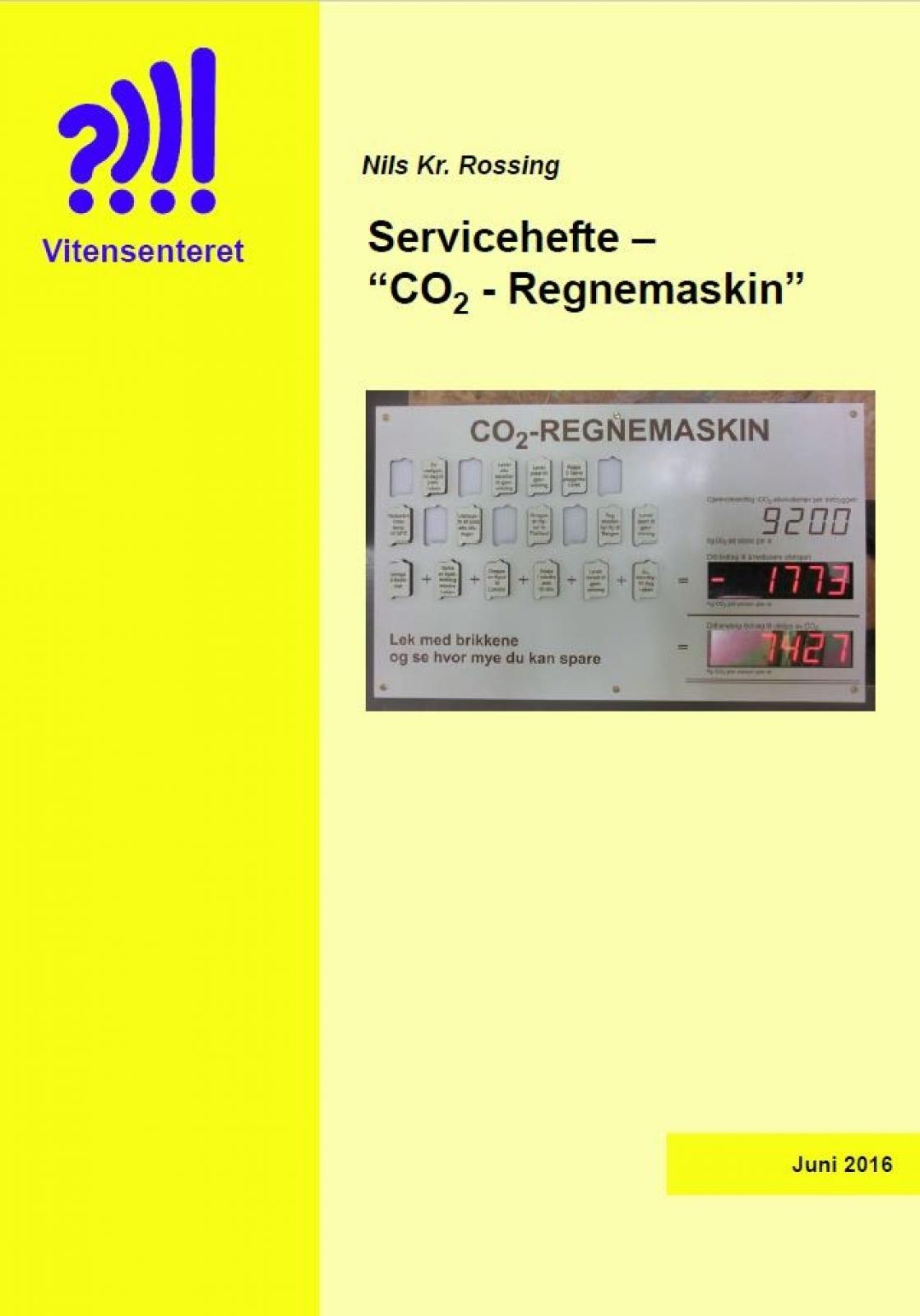Servicehefte – CO2 - Regnemaskin forside
